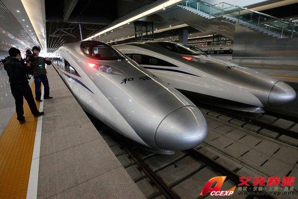 京沪高铁高速动车组由南车青岛四方股份有限公司制造