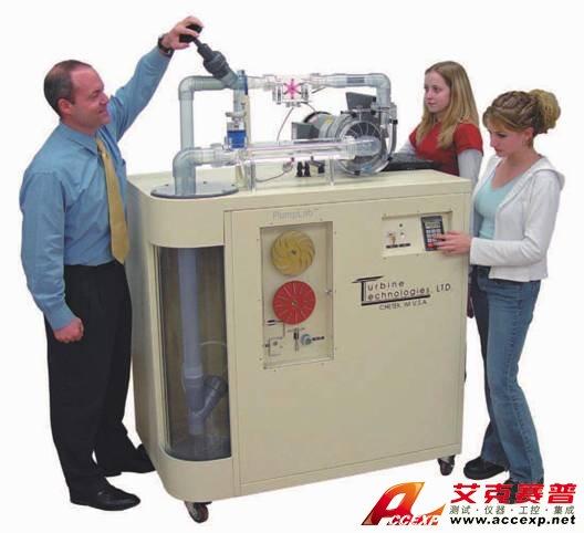 离心泵流体实验设备是一套完整独立的流体流动实验系统,可进行一系列的从基本流体机械学习到先进流体机械分析研究功能。基本流体力学概念包括能量与质量守恒、内流、伯努利原理和雷诺数,通过该系统可容易掌握以上相关知识。对与动力相关的先进专题试验研究,如欧拉方程及流体机械分析也是可行的。  离心泵流体实验设备 离心泵流体实验设备产品介绍: 一套完整独立的离心泵流体实验设备,可进行一系列的从基本流体机械学习到先进流体机械分析等研究功能。 概述 •用来探索流体与流体机械基本原理的可移动试验台 •是一套